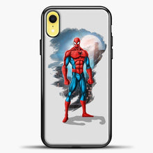 Load image into Gallery viewer, Avengers Spiderman iPhone XR Case, Black Plastic Case | casedilegna.com