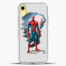 Load image into Gallery viewer, Avengers Spiderman iPhone XR Case, White Plastic Case | casedilegna.com