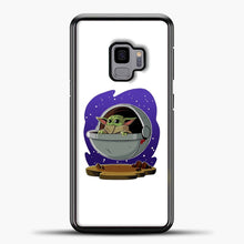 Load image into Gallery viewer, Baby Yoda Above Ground Samsung Galaxy S9 Case, Black Plastic Case | casedilegna.com