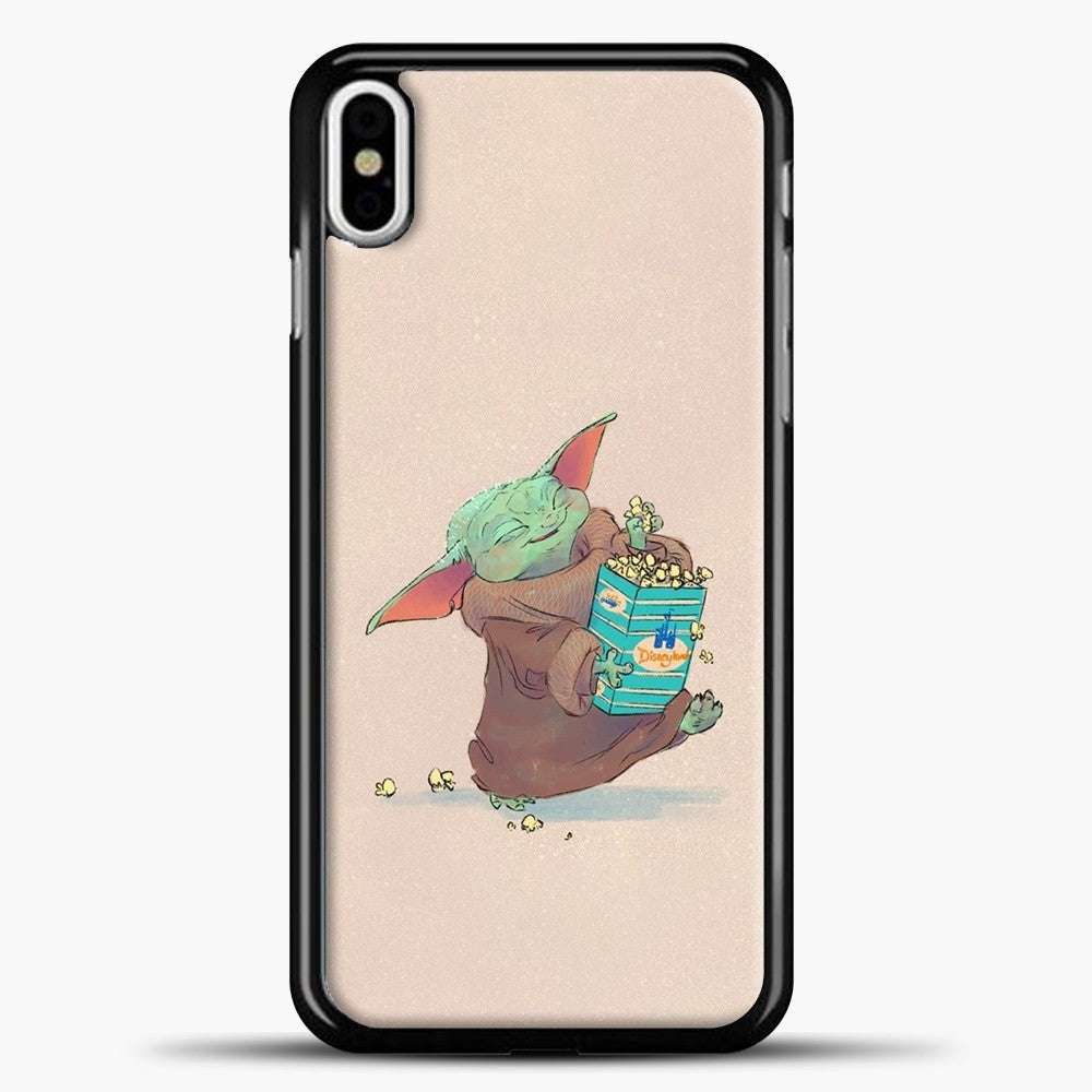 Baby Yoda Eat Snack iPhone X Case, Black Plastic Case | casedilegna.com