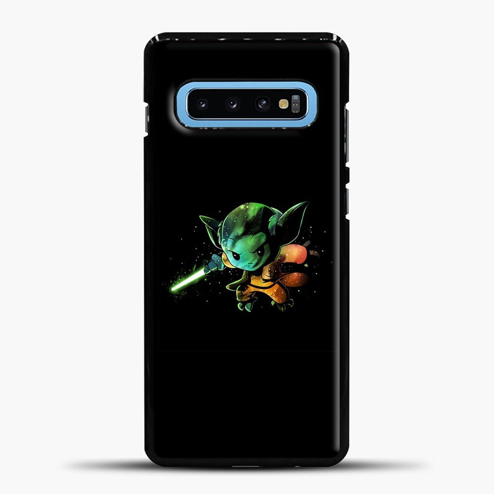 Baby Yoda Flying Samsung Galaxy S10 Case, Black Plastic Case | casedilegna.com