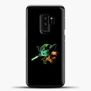 Baby Yoda Flying Samsung Galaxy S9 Plus Case, Black Plastic Case | casedilegna.com