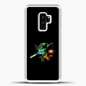 Baby Yoda Flying Samsung Galaxy S9 Plus Case, White Plastic Case | casedilegna.com