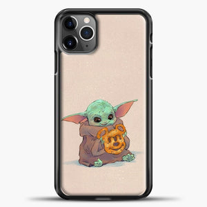 Baby Yoda Hold The Cake iPhone 11 Pro Max Case, Black Plastic Case | casedilegna.com