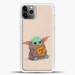 Baby Yoda Hold The Cake iPhone 11 Pro Max Case, White Plastic Case | casedilegna.com