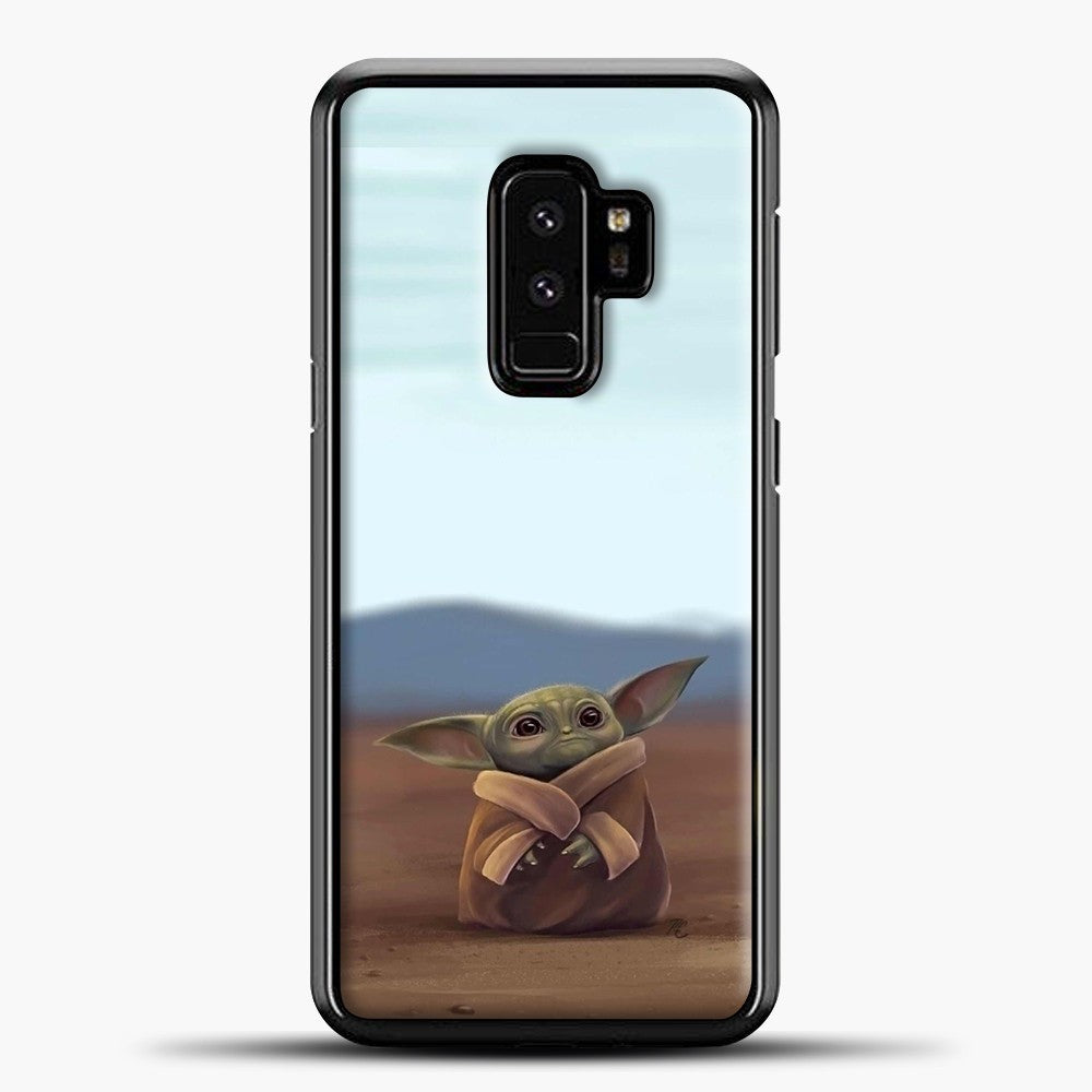 Baby Yoda In The Montains Samsung Galaxy S9 Plus Case, Black Plastic Case | casedilegna.com