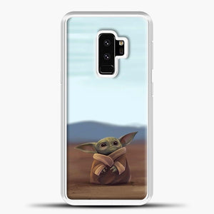 Baby Yoda In The Montains Samsung Galaxy S9 Plus Case, White Plastic Case | casedilegna.com