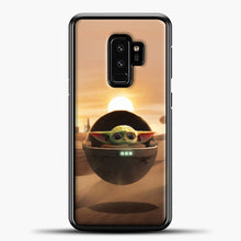 Load image into Gallery viewer, Baby Yoda The Desert Samsung Galaxy S9 Plus Case, Black Plastic Case | casedilegna.com