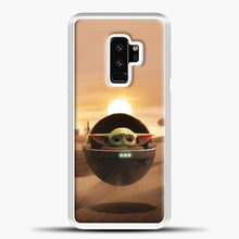 Load image into Gallery viewer, Baby Yoda The Desert Samsung Galaxy S9 Plus Case, White Plastic Case | casedilegna.com