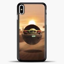 Load image into Gallery viewer, Baby Yoda The Desert iPhone X Case, Black Plastic Case | casedilegna.com