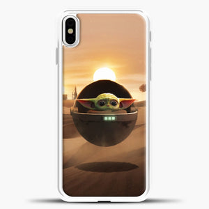 Baby Yoda The Desert iPhone X Case, White Plastic Case | casedilegna.com