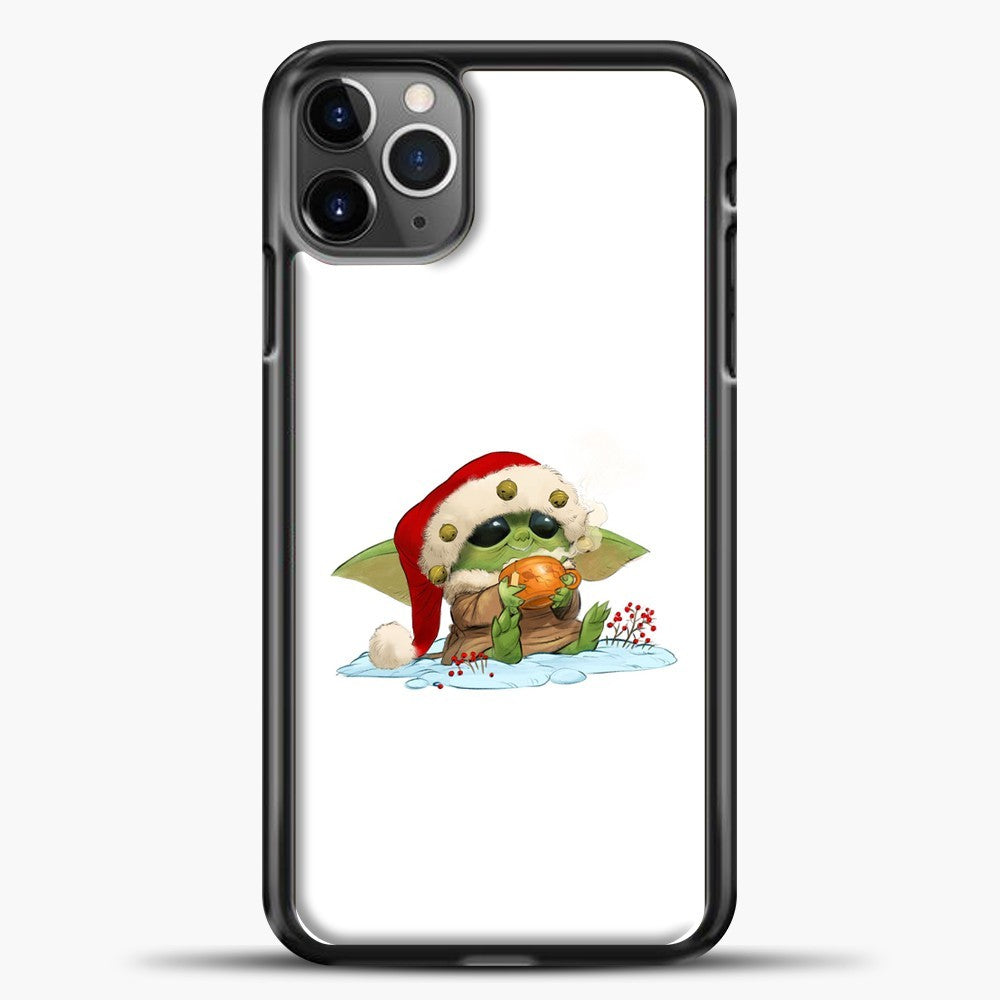 Baby Yoda Wearing A Hat iPhone 11 Pro Max Case, Black Plastic Case | casedilegna.com