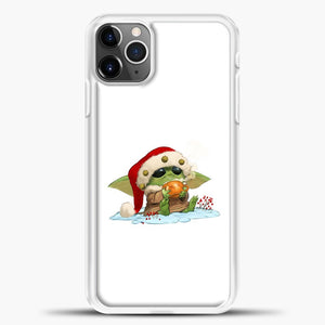 Baby Yoda Wearing A Hat iPhone 11 Pro Max Case, White Plastic Case | casedilegna.com