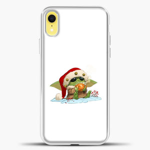 Baby Yoda Wearing A Hat iPhone XR Case, White Plastic Case | casedilegna.com