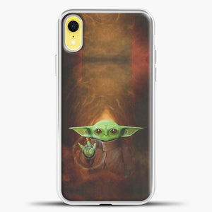 Baby Yoda White Light iPhone XR Case, White Plastic Case | casedilegna.com