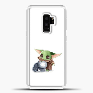 Baby Yoda With Cat Samsung Galaxy S9 Plus Case, White Plastic Case | casedilegna.com