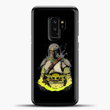 Load image into Gallery viewer, Baby Yoda With Planet Samsung Galaxy S9 Plus Case, Black Plastic Case | casedilegna.com