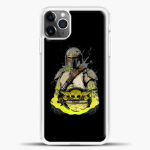 Load image into Gallery viewer, Baby Yoda With Planet iPhone 11 Pro Max Case, White Plastic Case | casedilegna.com