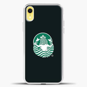 Back Of Starbucks Logo Art iPhone XR Case, White Plastic Case | casedilegna.com
