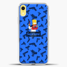 Load image into Gallery viewer, Bart Hype Gun iPhone XR Case, White Plastic Case | casedilegna.com
