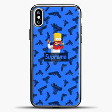 Load image into Gallery viewer, Bart Hype Gun iPhone XS Case, Black Plastic Case | casedilegna.com