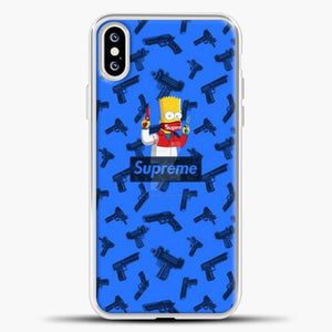 Bart Hype Gun iPhone XS Case, White Plastic Case | casedilegna.com