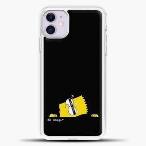 Bart Oh Snap iPhone 11 Case, White Plastic Case | casedilegna.com