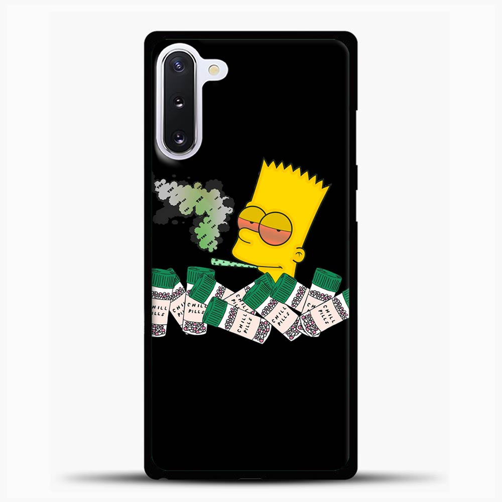 Bart Simpson Is High On Weed Samsung Galaxy Note 10 Case