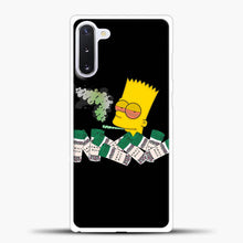 Load image into Gallery viewer, Bart Simpson Is High On Weed Samsung Galaxy Note 10 Case