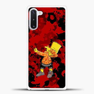 Bart Simpson Red Camo Samsung Galaxy Note 10 Case
