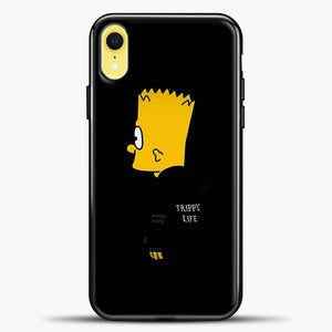 Bart Trippy Life iPhone XR Case, Black Plastic Case | casedilegna.com