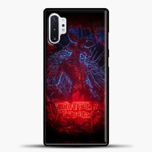 Billelis Stranger Things Samsung Galaxy Note 10 Plus Case, Black Plastic Case | casedilegna.com