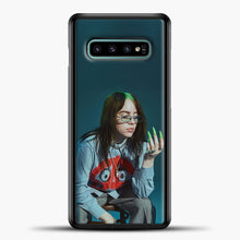 Load image into Gallery viewer, Billie Ailish Green Nails Samsung Galaxy S10e Case, Black Plastic Case | casedilegna.com