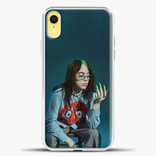 Load image into Gallery viewer, Billie Ailish Green Nails iPhone XR Case, White Plastic Case | casedilegna.com