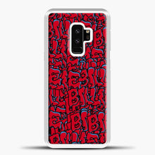 Load image into Gallery viewer, Billie Eilish All Over Drip Red Samsung Galaxy S9 Case, White Plastic Case | casedilegna.com