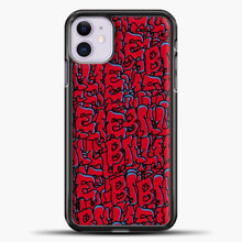 Load image into Gallery viewer, Billie Eilish All Over Drip Red iPhone 11 Case, Black Plastic Case | casedilegna.com