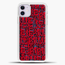 Load image into Gallery viewer, Billie Eilish All Over Drip Red iPhone 11 Case, White Plastic Case | casedilegna.com