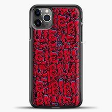 Load image into Gallery viewer, Billie Eilish All Over Drip Red iPhone 11 Pro Max Case , Black Plastic Case | casedilegna.com