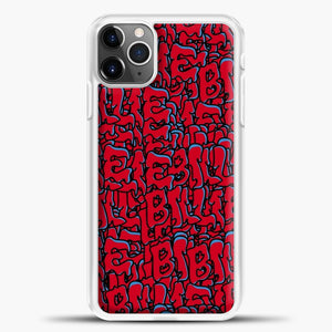 Billie Eilish All Over Drip Red iPhone 11 Pro Max Case , White Plastic Case | casedilegna.com