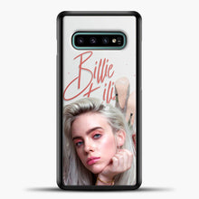 Load image into Gallery viewer, Billie Eilish Beautiful Photo Samsung Galaxy S10e Case, Black Plastic Case | casedilegna.com