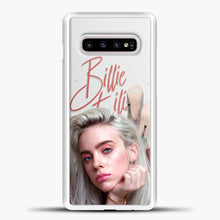 Load image into Gallery viewer, Billie Eilish Beautiful Photo Samsung Galaxy S10e Case, White Plastic Case | casedilegna.com