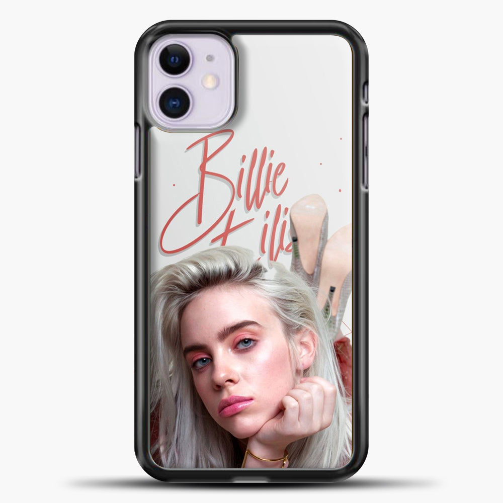 Billie Eilish Beautiful Photo iPhone 11 Case, Black Plastic Case | casedilegna.com