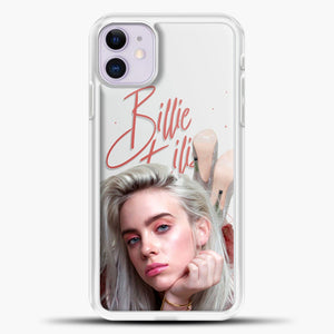 Billie Eilish Beautiful Photo iPhone 11 Case, White Plastic Case | casedilegna.com