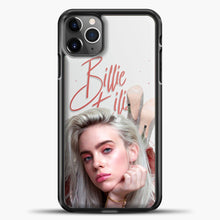 Load image into Gallery viewer, Billie Eilish Beautiful Photo iPhone 11 Pro Max Case, Black Plastic Case | casedilegna.com