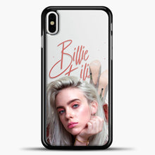 Load image into Gallery viewer, Billie Eilish Beautiful Photo iPhone X Case, Black Plastic Case | casedilegna.com