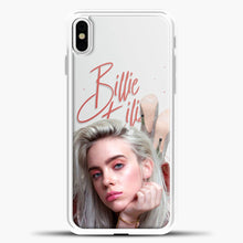 Load image into Gallery viewer, Billie Eilish Beautiful Photo iPhone X Case, White Plastic Case | casedilegna.com