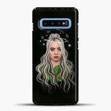 Load image into Gallery viewer, Billie Eilish Case Background Samsung Galaxy S10 Case, Black Plastic Case | casedilegna.com