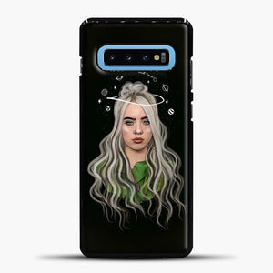 Billie Eilish Case Background Samsung Galaxy S10 Case, Black Plastic Case | casedilegna.com