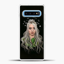 Load image into Gallery viewer, Billie Eilish Case Background Samsung Galaxy S10 Case, White Plastic Case | casedilegna.com