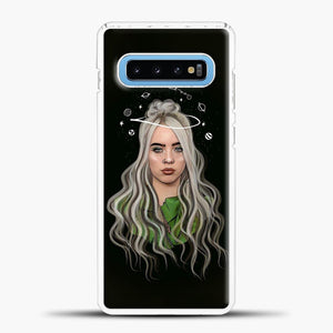 Billie Eilish Case Background Samsung Galaxy S10 Case, White Plastic Case | casedilegna.com